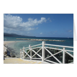 Playa de Montego Bay, tarjeta de Jamaica