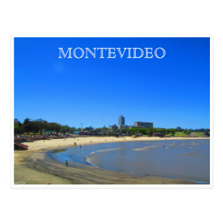 playa de Montevideo Postal