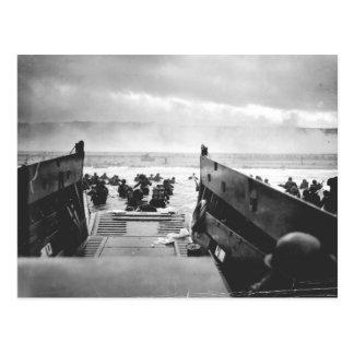 Playa de Omaha, Normandía, día D 1944 Postal