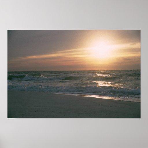 Playa de Pensacola del la de salida del sol en del Impresiones