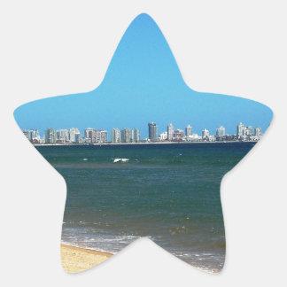 Playa de Punta del Este Pegatina En Forma De Estrella