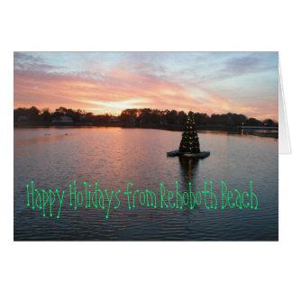 Playa de Rehoboth, DE Holiday Card Tarjeta