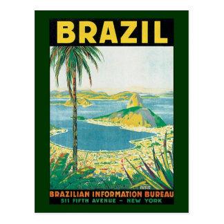 Playa de Río de Janeiro el Brasil Coastal del Postal