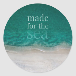Playa de Sandy blanca hermosa Pegatina Redonda