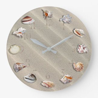 PLAYA DE SANDY CON LOS SEASHELLS, RELOJ DE PARED