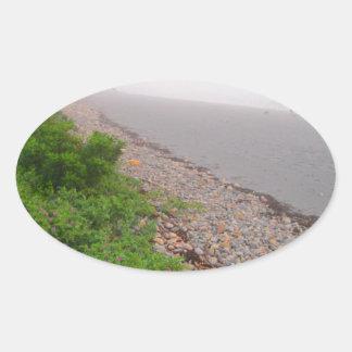 Playa de Sandy York Pegatina Ovalada