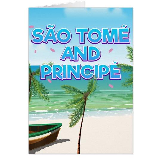 Playa de São Tomé y de Principé Tarjeta De Felicitación
