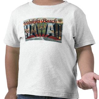 Playa de Waikiki, Hawaii - escenas grandes de la Camisetas