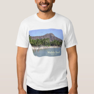 ¡Playa de Waikiki, playa de Kuhio, palmas, cabeza Camisetas