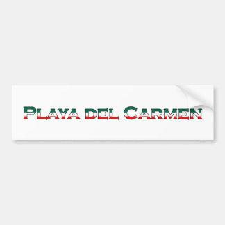 Playa del Carmen (logotipo del texto) Pegatina Para Coche