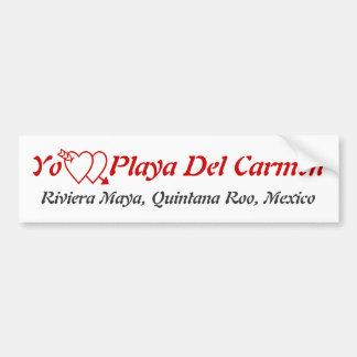 Playa del Carmen, maya México de Quintana Roo Rivi Pegatina De Parachoque