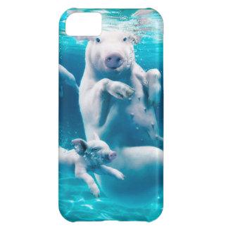 Playa del cerdo - cerdos de la natación - cerdo funda para iPhone 5C