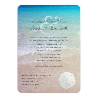 Playa del dólar de arena que casa la invitación