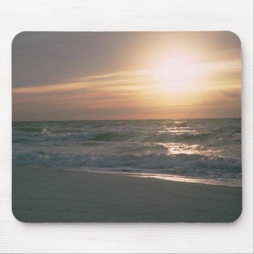 Playa del en Pensacola de La Salida del Sol Alfombrillas De Ratón