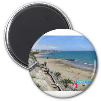 Playa del Ingles Imán Redondo 5 Cm