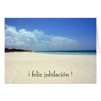 playa del jubilación tarjeta de felicitación