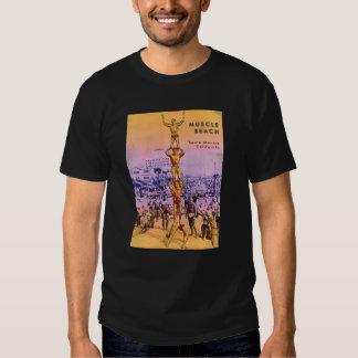 Playa del músculo camisetas
