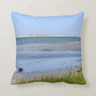 Playa del océano en la bahía de Cape Cod Cojín Decorativo