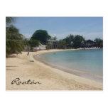 playa del roatán tarjeta postal