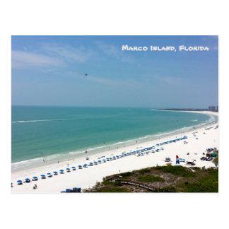 Playa el Golfo de México de la Florida de la isla Postal