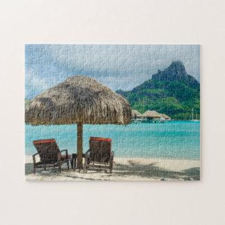 Playa en el rompecabezas de Bora Bora