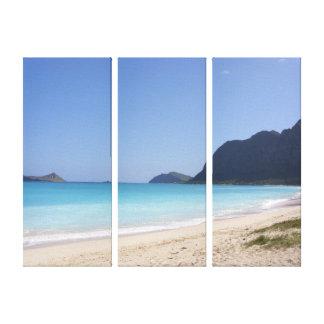 Playa en Hawaii Impresión En Lienzo