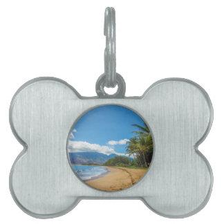 Playa en Hawaii Placa Para Mascotas