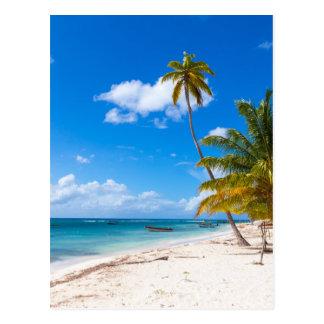 Playa en la República Dominicana de Saona Postal