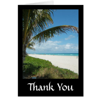 Playa escénica, rama lateral de la palma tarjeta