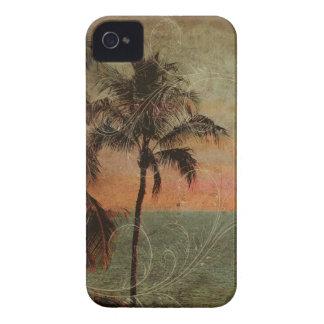 Playa hawaiana del vintage de PixDezines, hapuna iPhone 4 Case-Mate Cárcasas