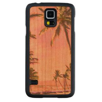 Playa hawaiana/rosa del vintage de PixDezines Funda De Galaxy S5 Slim Cerezo