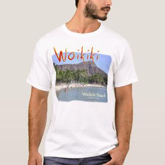 Playa Honolulu Hawaii de Waikiki con la cabeza del Camiseta