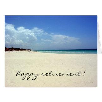 playa jubilada grande tarjeta de felicitación grande