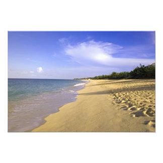 Playa larga de la bahía de Baie Longue, San Martín Fotos