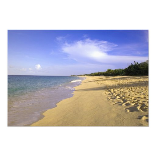 Playa larga de la bahía de Baie Longue, San Martín Fotografia