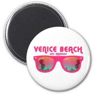 Playa Los Ángeles de Venecia Imán Redondo 5 Cm