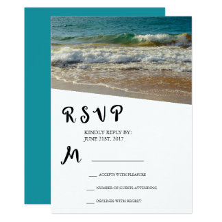 Playa o isla tropical que casa RSVP Invitación 12,7 X 17,8 Cm