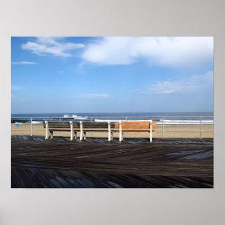 Playa/paseo marítimo del parque de Asbury Póster