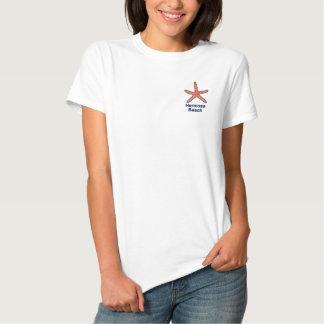 Playa personalizada naranja de las estrellas de camiseta polo