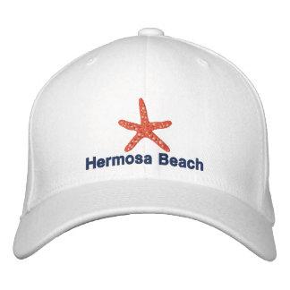 Playa personalizada naranja de las estrellas de gorra de béisbol