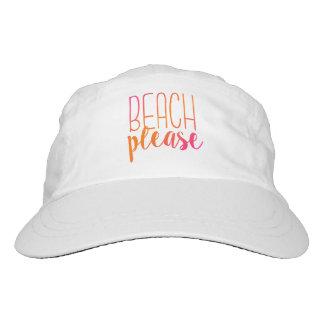 Playa por favor gorra tropical rosado y anaranjado gorra de alto rendimiento