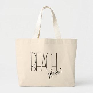 ¡Playa por favor! La bolsa de asas de la playa