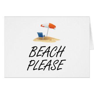 Playa por favor tarjeta
