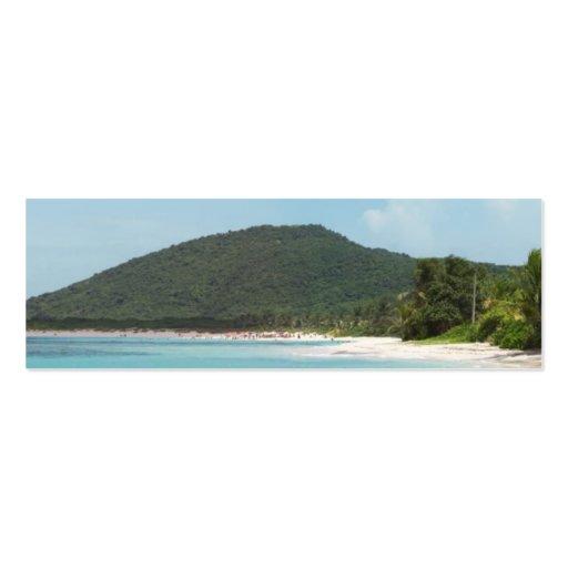 Playa Puerto Rico del flamenco de Culebra Plantillas De Tarjetas Personales