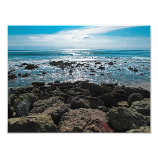 Playa rocosa impresiones fotográficas