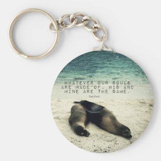 Playa romántica Emily Bronte de la cita de los Llavero