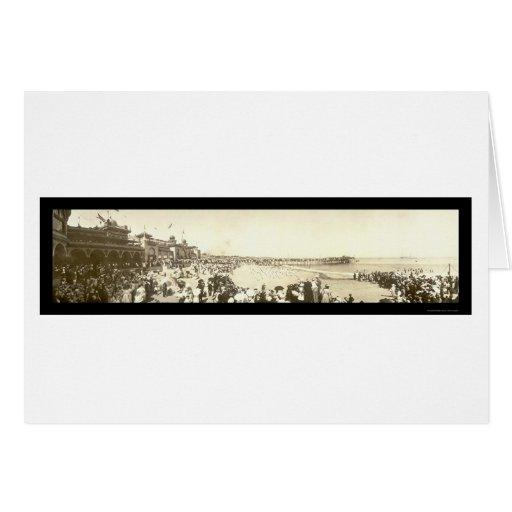 Playa Santa Cruz, foto 1908 de CA Felicitaciones