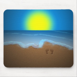Playa soleada Mousepad