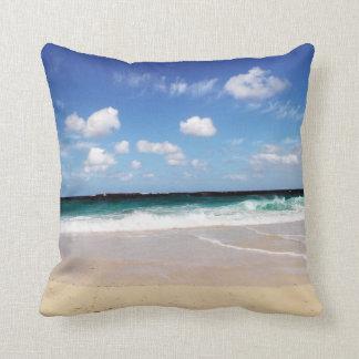 Playa tropical cojín decorativo