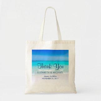 Playa tropical con un boda del mar de la turquesa bolso de tela